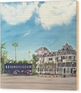 Hurricane Restaurant Pass A Grill Florida Wood Print