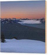 Hurricane Ridge At Sunrise In Olympic National Park Washington Wood Print