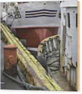 Husavik Boats Iceland 3741 Wood Print