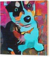 Husky 3 Wood Print