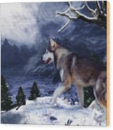 Husky - Mountain Spirit Wood Print