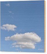Huson River Clouds 3 Wood Print
