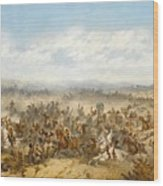 Hussars At The Battle Wood Print