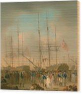Hussars Embarking At Deptford Wood Print