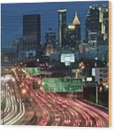 Hustle And Bustle Of Atlanta Roadways Wood Print