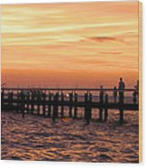 Hut Pier In The Outer Banks Wood Print