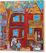Hutchison Street Sabbath In Montreal Wood Print