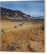 Hverir Geothermal Springs Wood Print