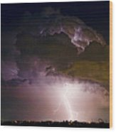 Hwy 52 - 08-15-2010 Lightning Storm Image 42 Wood Print
