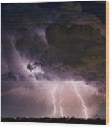 Hwy 52 - Hwy 287 Lightning Storm Image 29 Wood Print