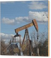 Hwy 71 Oil Well Wood Print