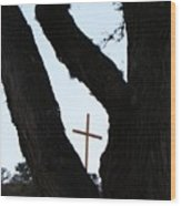 Hwy 87 Cross One Wood Print