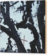 Hwy 87 Cross Two Wood Print