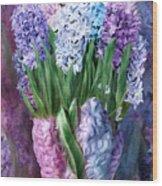 Hyacinth In Hyacinth Vase 1 Wood Print