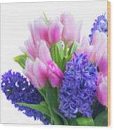 Hyacinths And Tulips  Wood Print