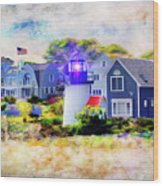 Hyannis Lighthouse Wood Print