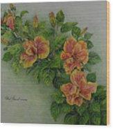 Hybrid Hibiscus Wood Print