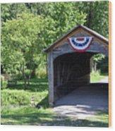 Hyde Hall Covered Bridge Wood Print
