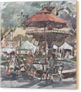 Hyde Park Market Plein Air Wood Print