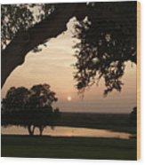 Hyde Ranch Sunset Wood Print