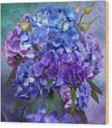 Hydrangea Bouquet - Square Wood Print