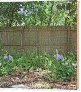 Hydrangea Bushes Wood Print