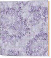 Hydrangea Digital In Lilac Wood Print