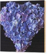 Hydrangea Heart Wood Print