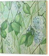 Hydrangea In Green Wood Print