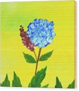 Hydrangea Watercolor Wood Print