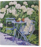 Hydrangeas At Angele Wood Print