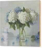 Hydrangeas For Susan Wood Print