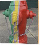 Hydrant With A Facelift Wood Print