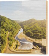 Hydropower Valley River Wood Print