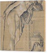Hymen Mourning Wood Print