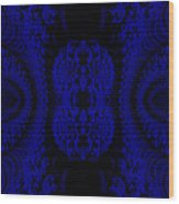 Hyper Tidal Blue Wood Print