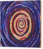 Hypnotic Gold Wood Print