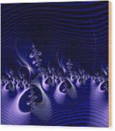Hypnotique Blue Wood Print