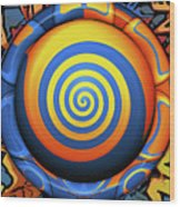 Hypnotrippery Wood Print