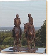 Hyrum And Joseph Smith Equestrian Bronze Monument At Nauvoo Illinois Wood Print
