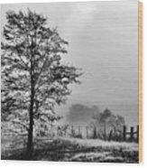 I-40 Fog Wood Print
