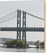 I-74 Bridge Wood Print