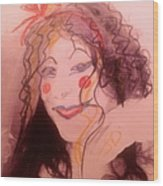 I Am A Clown  Wood Print