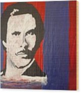I Am Ron Burgundy Wood Print by April Harker