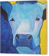 I Am So Blue Wood Print