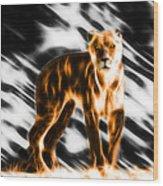 I Am The Lioness Wood Print