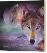 I Am Wolf Wood Print