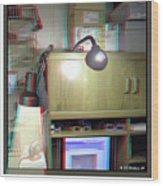I C The Light - Use Red-cyan 3d Glasses Wood Print
