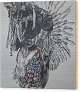 I Close My Eyes And Hear The Songs Of My Ancestors Wood Print