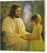 I Feel My Savior's Love Wood Print by Greg Olsen
